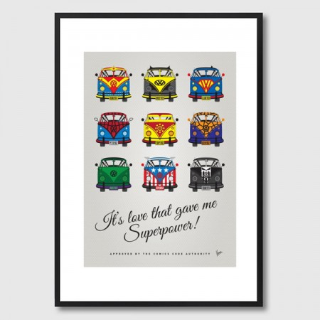 My Superhero VW Universe Framed Print - Red Candy
