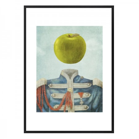 Sgt. Apple Framed Print - Red Candy