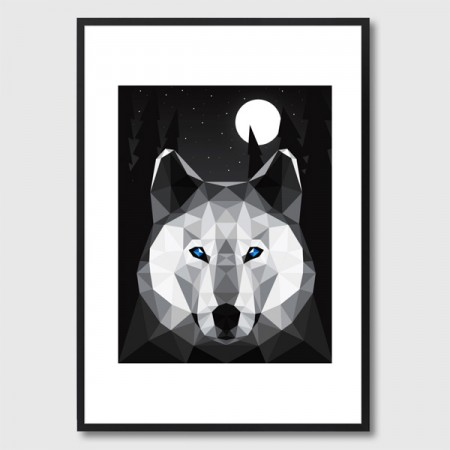 The Tundra Wolf Framed Print - Red Candy