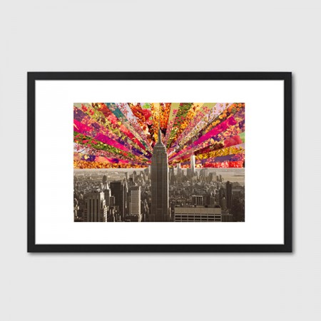 Blooming NY Framed Art Print - Red Candy