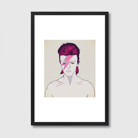 D. B. David Bowie Framed Print - Red Candy
