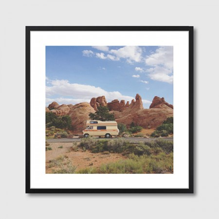 Rock Camper Framed Print - Red Candy