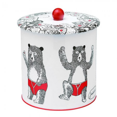 Mr Bear Biscuit Barrel Tin - Red Candy