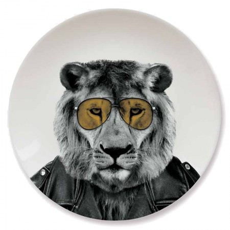 Wild Dining Plate (Lion) - Red Candy