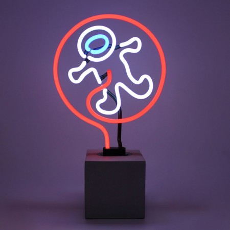 Neon Astronaut Table Lamp - Red Candy