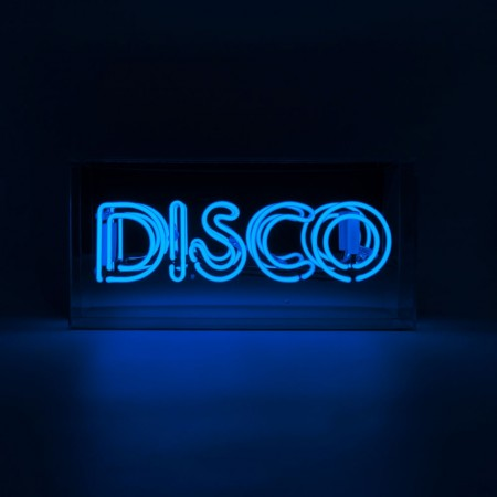 Blue Disco Neon Box Light - Red Candy