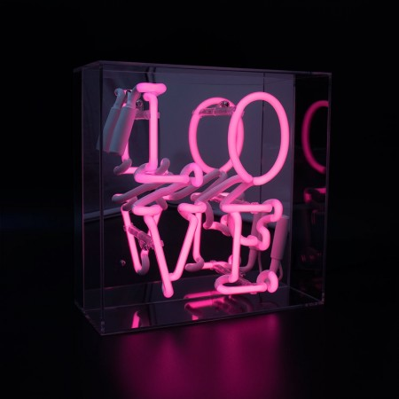 Love Neon Box Light - Red Candy