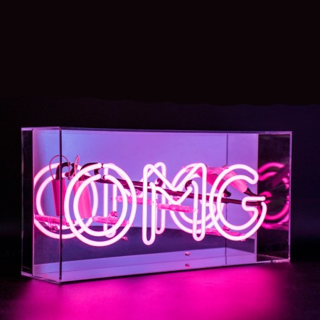 OMG Neon Box Light - Red Candy
