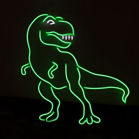 Neon T-Rex Wall Light Sign- Red Candy