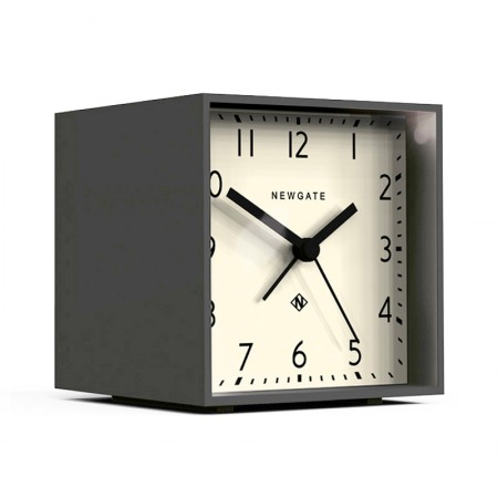 Newgate Cubic Gravity Grey Alarm Clock (White) - Red Candy
