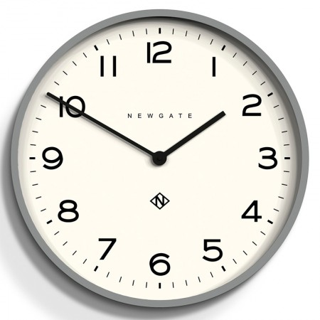 Newgate Number One Echo Clock (Grey) - Red Candy