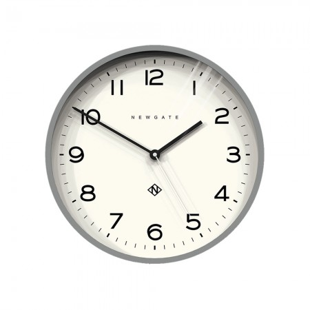 Newgate Number Three Echo Clock (Grey) - Red Candy