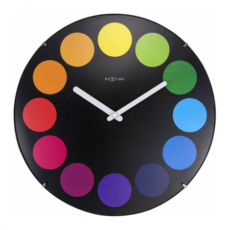 Nextime Dots Dome Clock (Black) - Red Candy