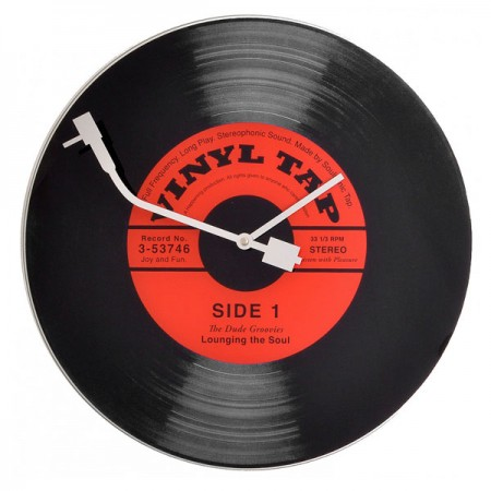 Nextime Vinyl Tap Clock - Red Candy