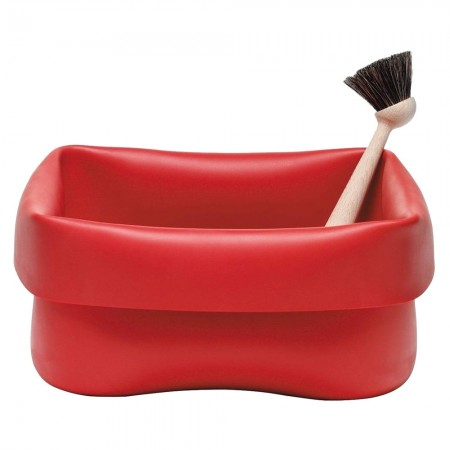 Red Rubber Washing Up Bowl - Red Candy