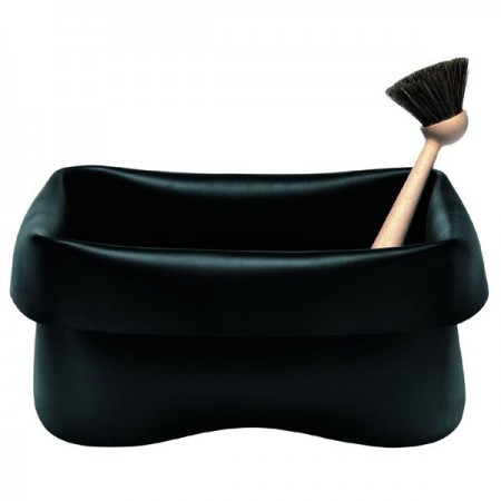 Normann Copenhagen Rubber Washing Up Bowl (Black) - Red Candy