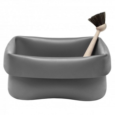 Normann Copenhagen Rubber Washing Up Bowl (Grey) - Red Candy