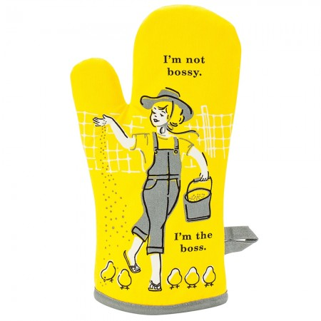 I'm Not Bossy Oven Glove - Red Candy