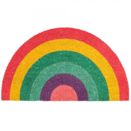 Over the Rainbow Doormat - Red Candy