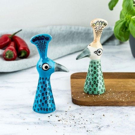 Peacock Salt & Pepper Shakers - Red Candy