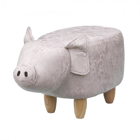 Penelope Pig Footstool - Red Candy