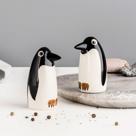 Penguin Salt & Pepper Shakers - Red Candy