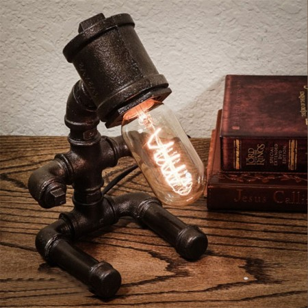 Pipe Person Baby Lamp - Red Candy
