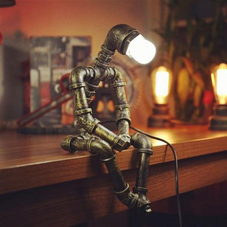Pipe Person Daydream Lamp - Red Candy