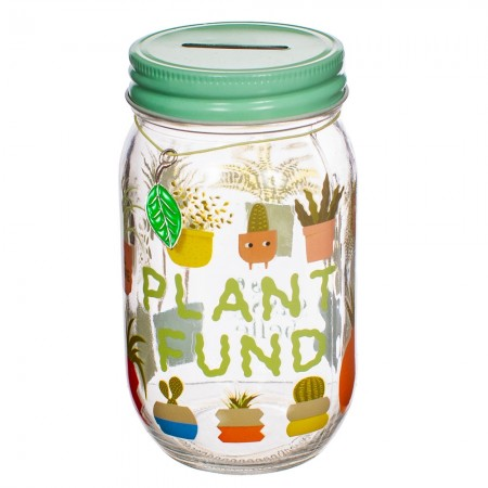 Plant Fund Money Jar - Red Candy