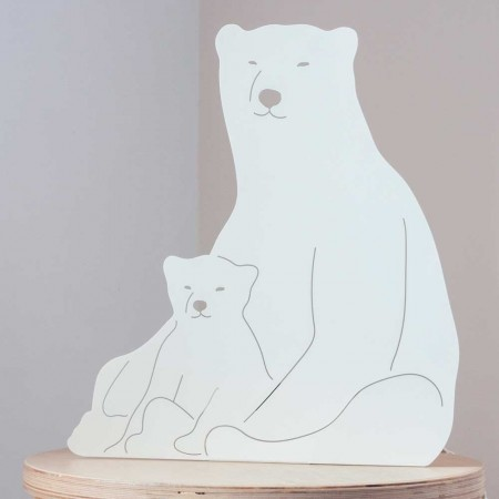 Polar Bears Table Lamp - Red Candy