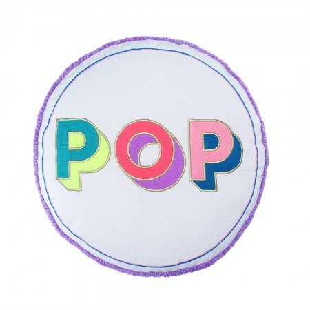 POP Round Cushion  - Red Candy