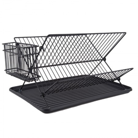 Black Wire Dish Rack - Red Candy