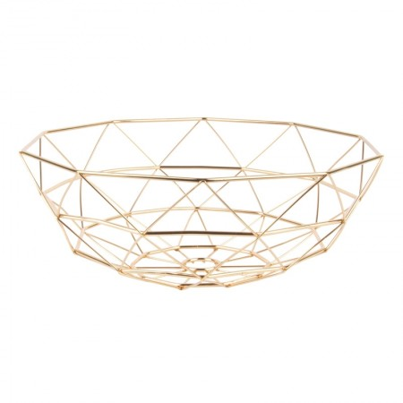 Diamond Cut Basket (Gold) - Red Candy