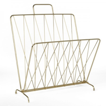 Diamond Raster Magazine Rack (Gold) - Red Candy