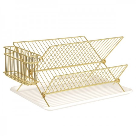 Gold Wire Dish Rack - Red Candy