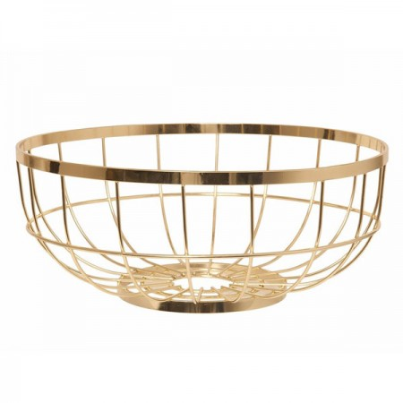Open Grid Fruit Basket (Gold) - Red Candy