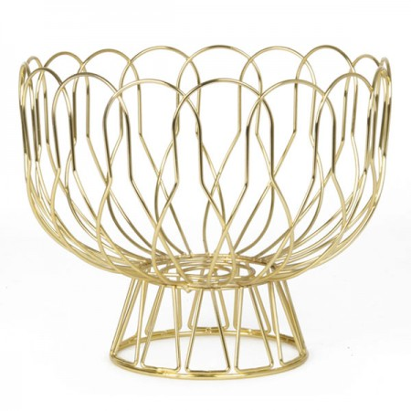 Wired Fruit Bowl (Gold) - Red Candy