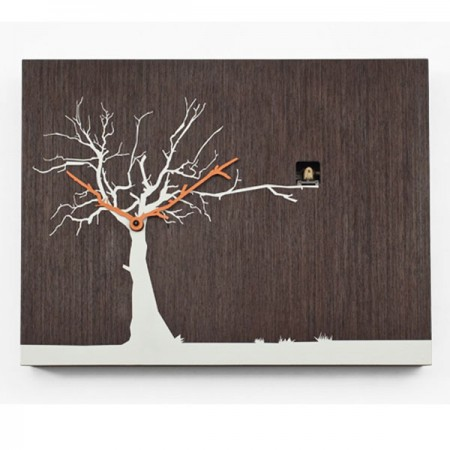 Progetti Cucu Ruku Cuckoo Clock (Wenge White) - Red Candy