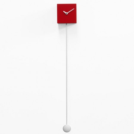 Progetti Long Time Pendulum Clock (Red) - Red Candy