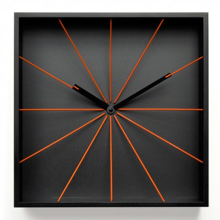 Progetti Perspective Wall Clock (Black) - Red Candy