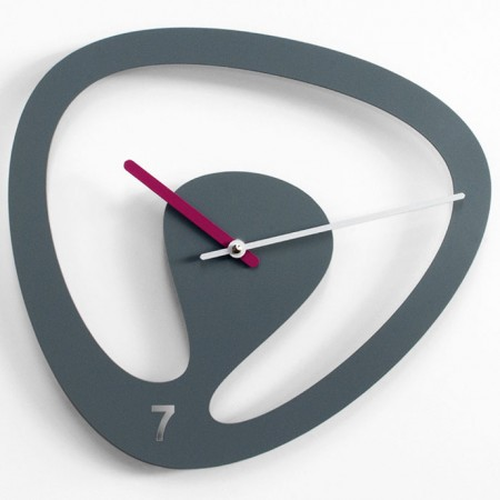Progetti Seven Wall Clock (Grey) - Red Candy