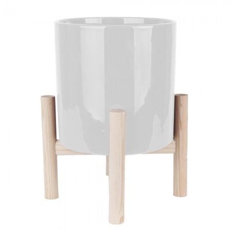 Trestle Plant Pot (White) - Red Candy