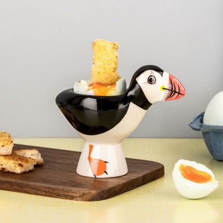 Puffin Egg Cup - Red Candy
