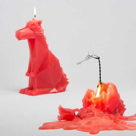 PyroPet Dreki Dragon Candle (Red) - Red Candy