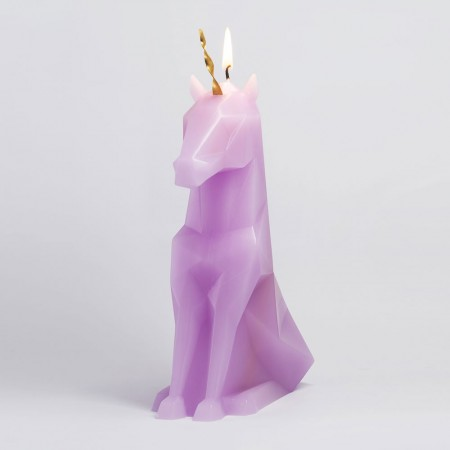 PyroPet Einar Candle (Lilac) - Red Candy