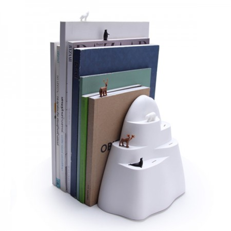 Iceberg Bookend & Bookmarks - Red Candy