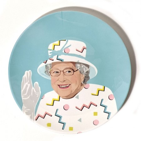 Queen Elizabeth Wave Plate - Red Candy