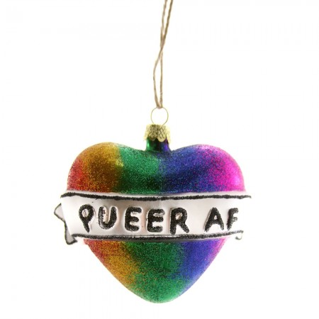 Queer AF Bauble - Red Candy
