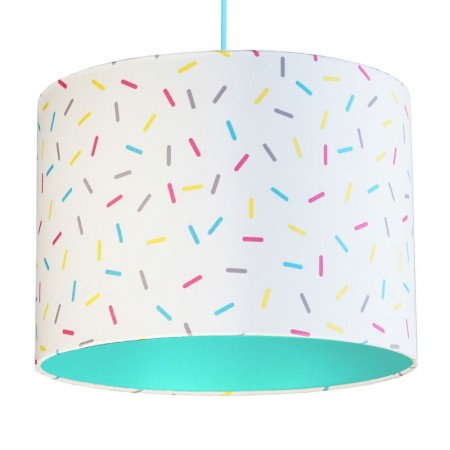 Multi-Colour Sprinkles Lampshade (Mint) - Red Candy