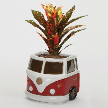Red Campervan Wall Planter - Red Candy